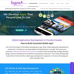 Mobile Application Development Company in Canada Ontario Toronto Vancouver