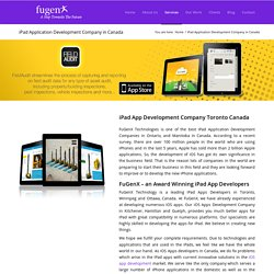 iPad Application Development Company in Canada Ontario Toronto Vancouver