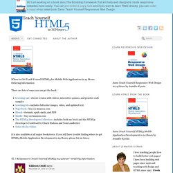 Get Teach Yourself HTML5 Mobile Application Development