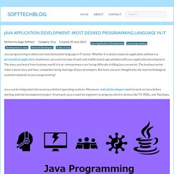 Java application development: Most desired programming language in IT