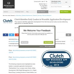 Clutch Identifies Early Leaders in Wearable Application Development