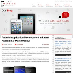 Android Application Development in Latest Android 6.0 Marshmallow