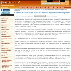 6 Effective and Golden Rules for Android Application Development