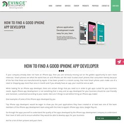 Iphone Application Development Company, Iphone Developers