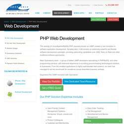 Build Enterprise level Web apps with PHP Development