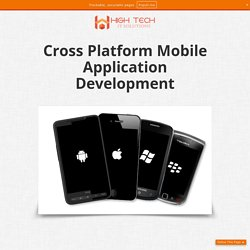 Cross Platform Mobile Application Development