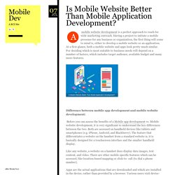 Is Mobile Website Better Than Mobile Application Development?