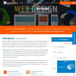 Best Company for PHP MySQL Application Development Services – Xtreem Solution