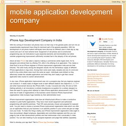 mobile application development company: iPhone App Development Company in India