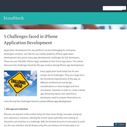 Top Five Challenges Expereinced in Enterprise Application Development