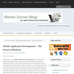 Mobile Application Development – The Future of Business
