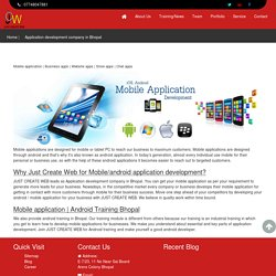Application development company in Bhopal