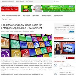 Top Five RMAD and Low-Code Tools for Enterprise Application Development