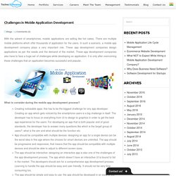 Challenges in Mobile Application Development -