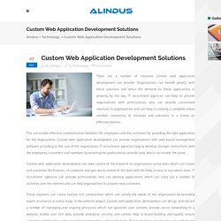 Custom Web Application Development Solutions - Alindus