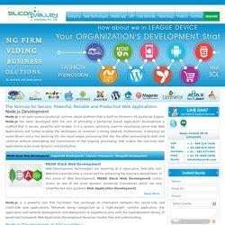Outsource Node Js web application Development Company