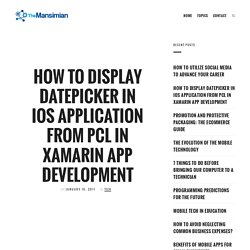 How To Display DatePicker In iOS Application from PCL in Xamarin App Development