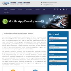 Mobile Application Development – Android, iOS & Cross-platform @ AGS Canada