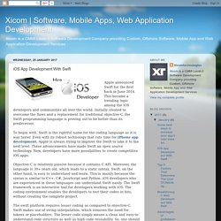 Software, Mobile Apps, Web Application Development: iOS App Development With Swift