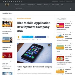 Hire Mobile Application Development Company USA