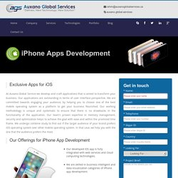 iPhone/IOS Application Development Company in Canada @ Auxano Global Services
