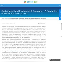 iPad Application Development Company – A Guarantee of Perfection and Success