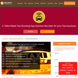 Custom Taxi Booking Application Development Solutions - Ready to use