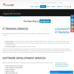 Cegonsoft Services - Software IT Application Development