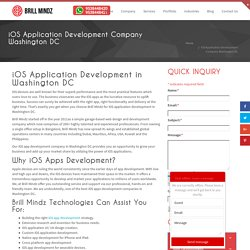 iOS Application Development Company in Washington DC– Brill Mindz