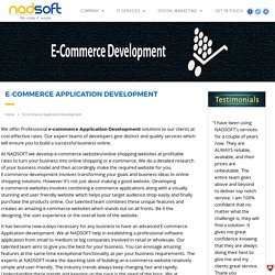 E-Commerce Application Development Company