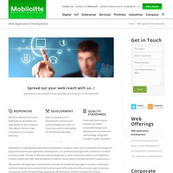 Web Application Development Service provider Company - Mobiloitte