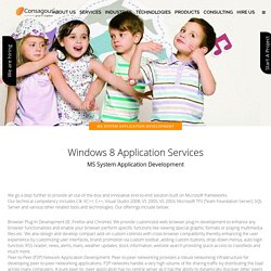MS System Application Development - Consagous