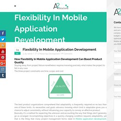 Mobile Application Development Can Boost Product Quality