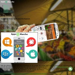 Changes in Mobile Application Development