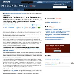 HTML5 in the browser: Local data storage | Application Development