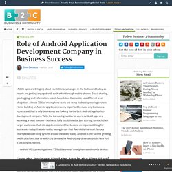 Role of Android Application Development Company in Business Success