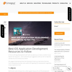 Best iOS Application Development Resources to Follow -
