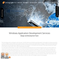 Windows Application Development Services - Consagous
