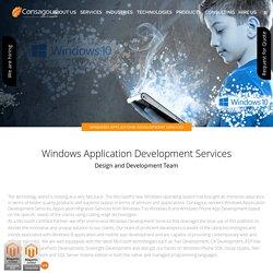 Windows Application Development Services - Consagous