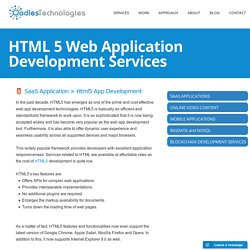HTML 5 Web Application Development Services