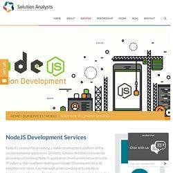 NodeJS Application Development Consulting Company India, USA, Hire NodeJS Developers
