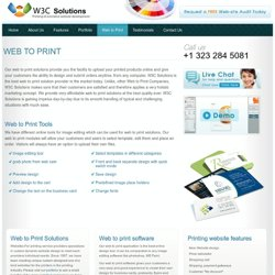 Web to print | Web to print application | Printing website development | printing website