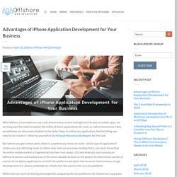 Advantages of iPhone Application Development for Your Business