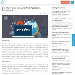 Benefits of using Node.js for Web Application Development