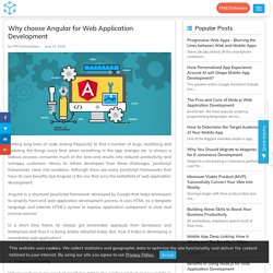Why choose Angular for Web Application Development