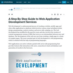 A Step By Step Guide to Web Application Development Services: kindlebits
