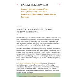 Holateck : Best Android Application Development Services