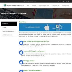 iOS application development company in hubli - Eneblur consulting