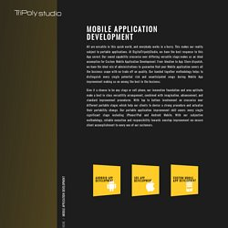 Best mobile application development services in india tripoly