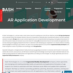 AR Application Development - Website & Mobile Application Development